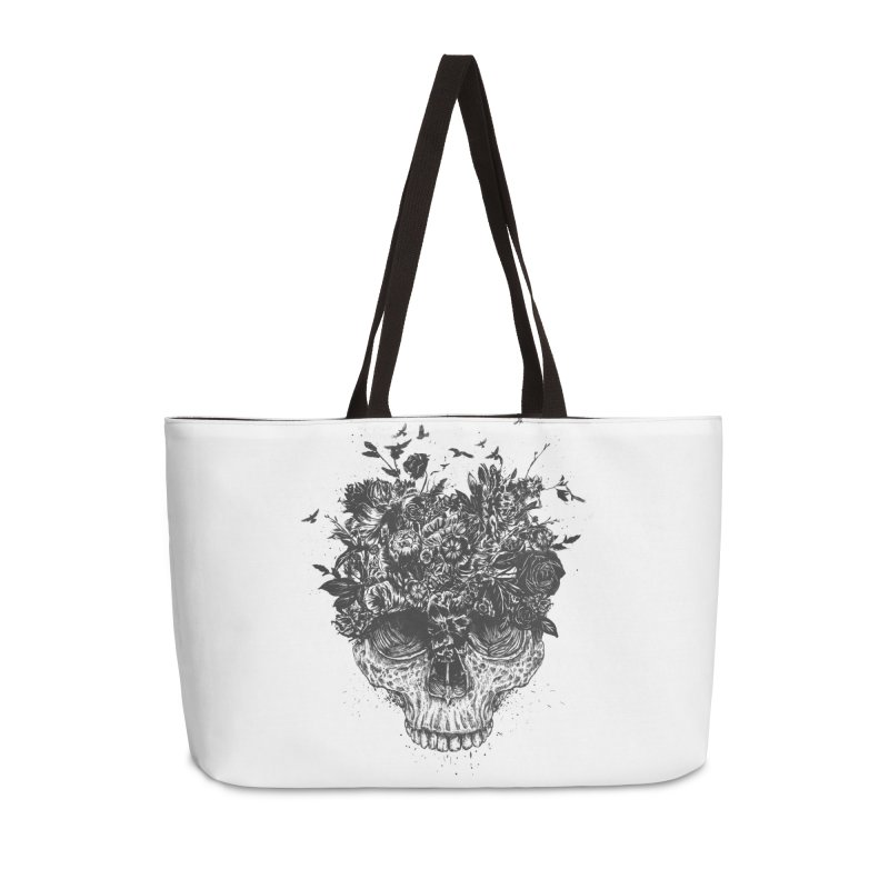 My head is a jungle (bw) Accessories Weekender Bag Bag by Balazs Solti