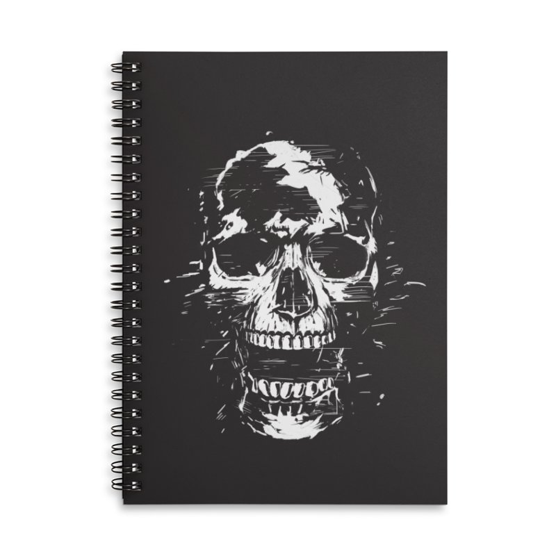 Scream Accessories Lined Spiral Notebook by Balazs Solti