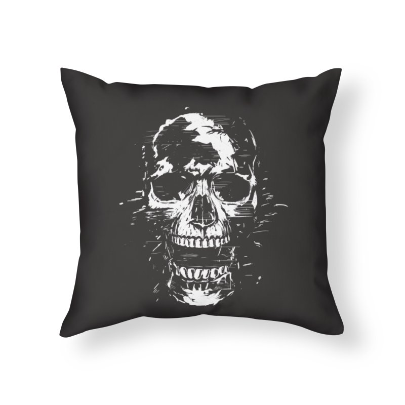 Scream Home Throw Pillow by Balazs Solti