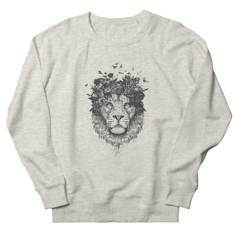 Floral lion (bw) Men's Sweatshirt by Balazs Solti