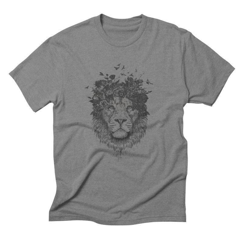 Floral lion (bw) Men's Triblend T-Shirt by Balazs Solti