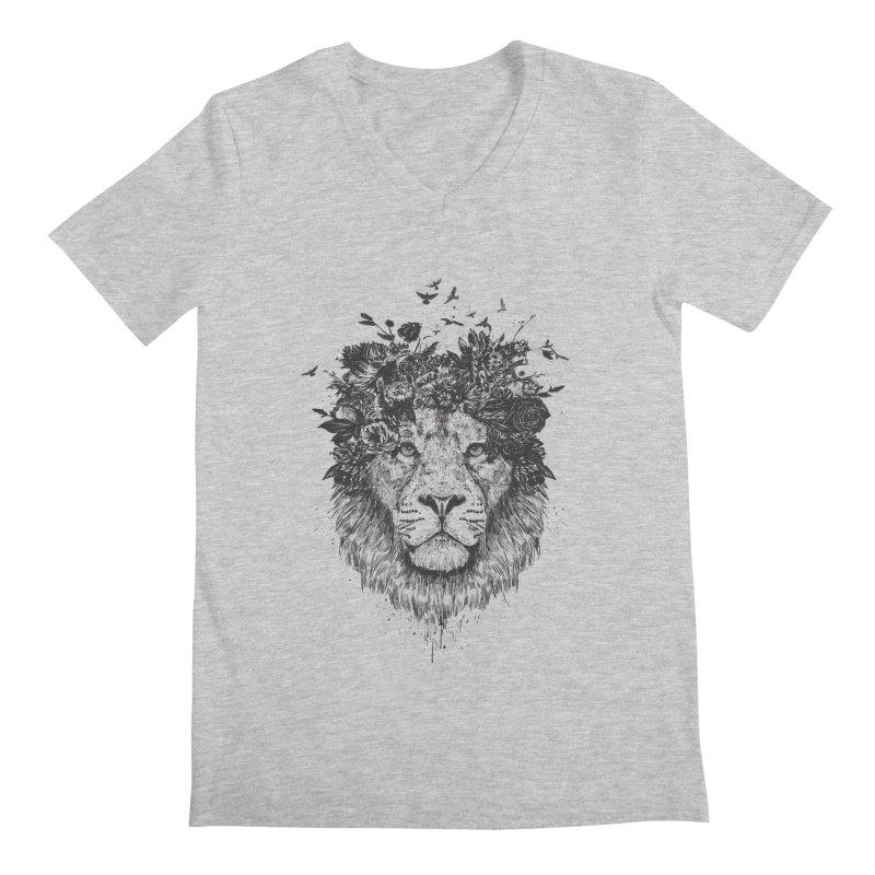 Floral lion (bw) Men's  by Balazs Solti