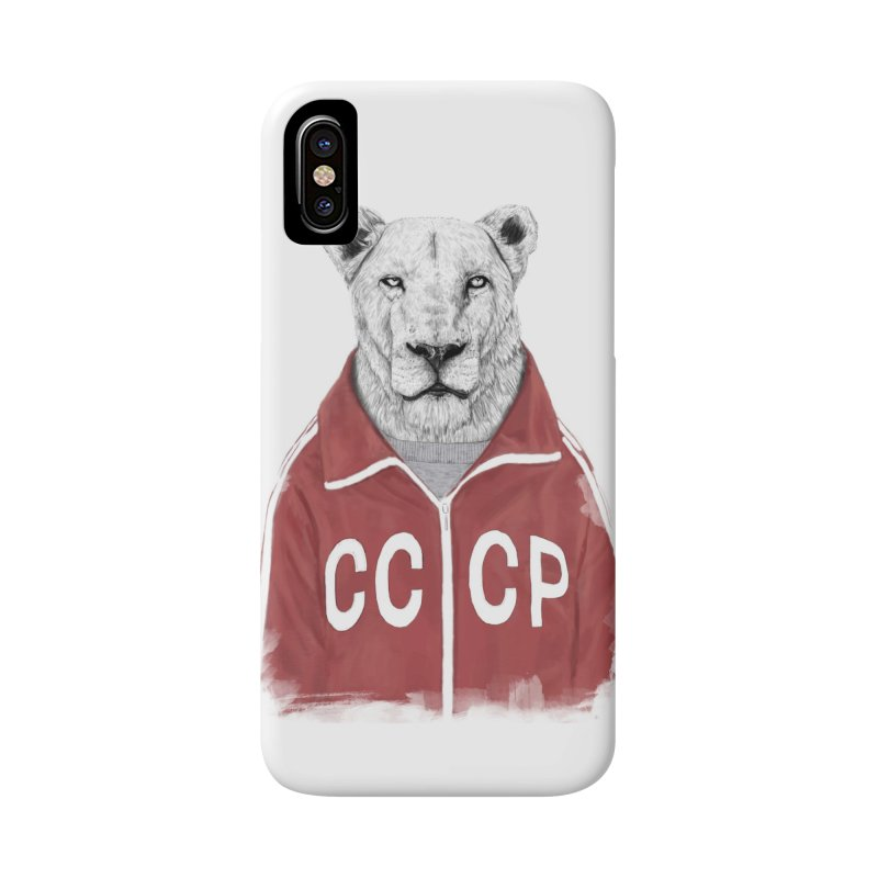 Soviet lion Accessories Phone Case by Balazs Solti