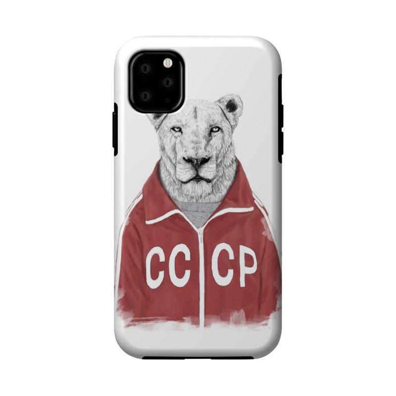 Soviet lion Accessories Phone Case by Balazs Solti