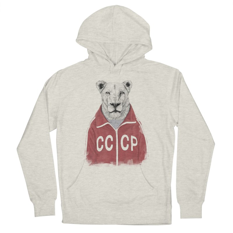 Soviet lion Men's French Terry Pullover Hoody by Balazs Solti