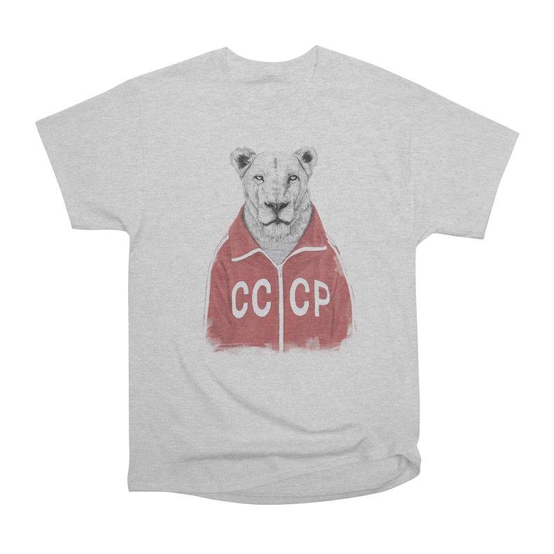 Soviet lion Women's Heavyweight Unisex T-Shirt by Balazs Solti