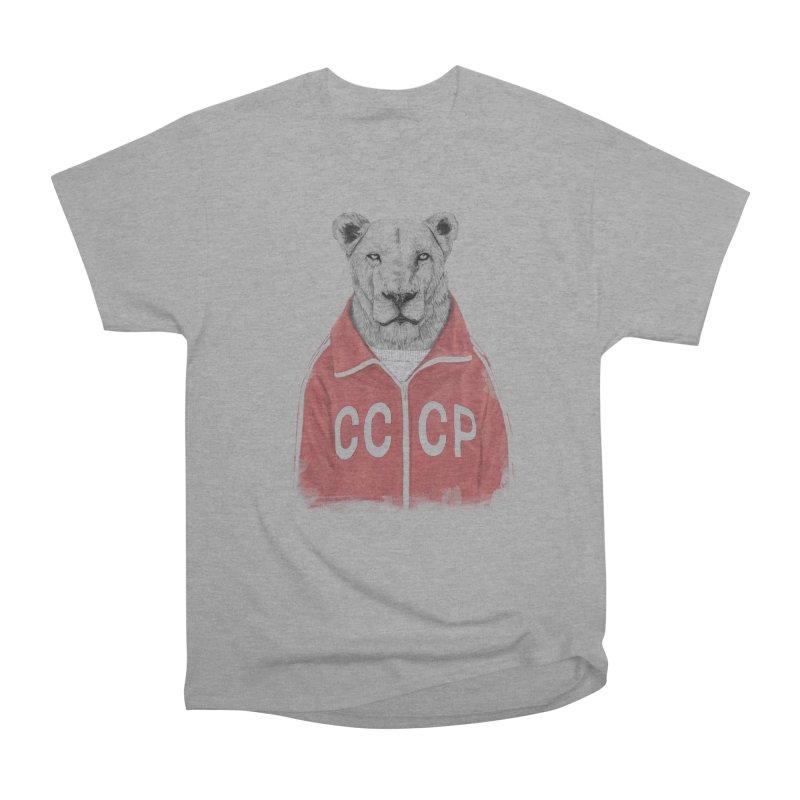 Soviet lion Men's Heavyweight T-Shirt by Balazs Solti