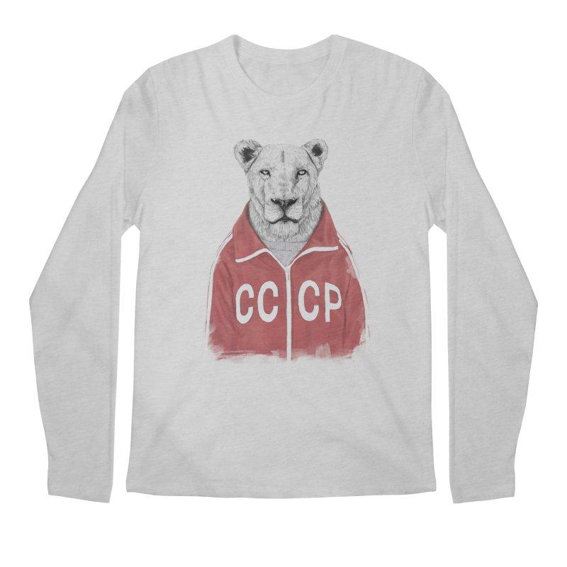 Soviet lion Men's Regular Longsleeve T-Shirt by Balazs Solti