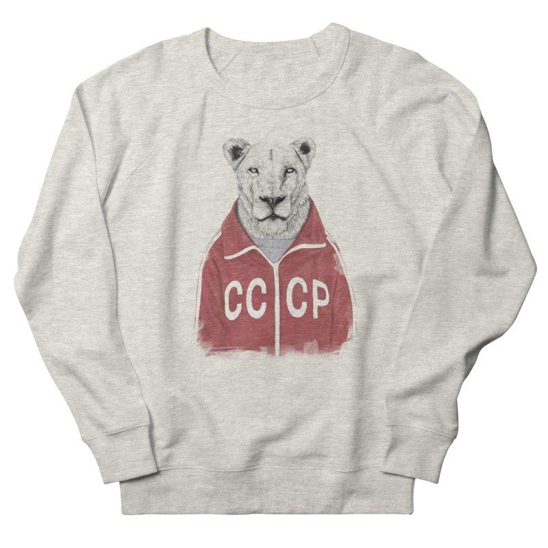 Soviet lion Men's French Terry Sweatshirt by Balazs Solti