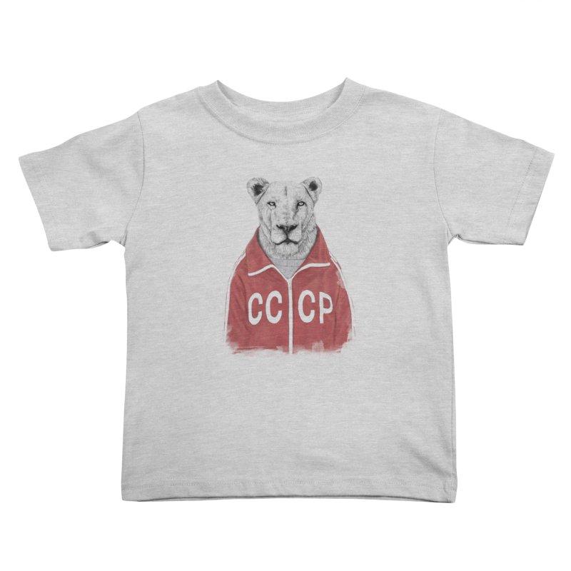 Soviet lion Kids Toddler T-Shirt by Balazs Solti