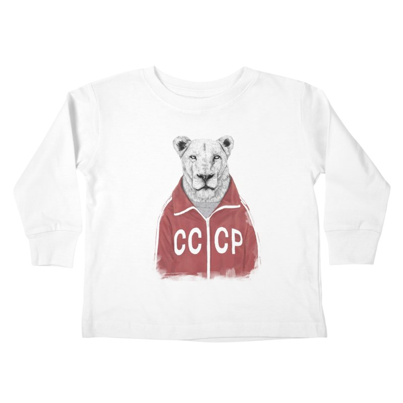 Soviet lion Kids Toddler Longsleeve T-Shirt by Balazs Solti