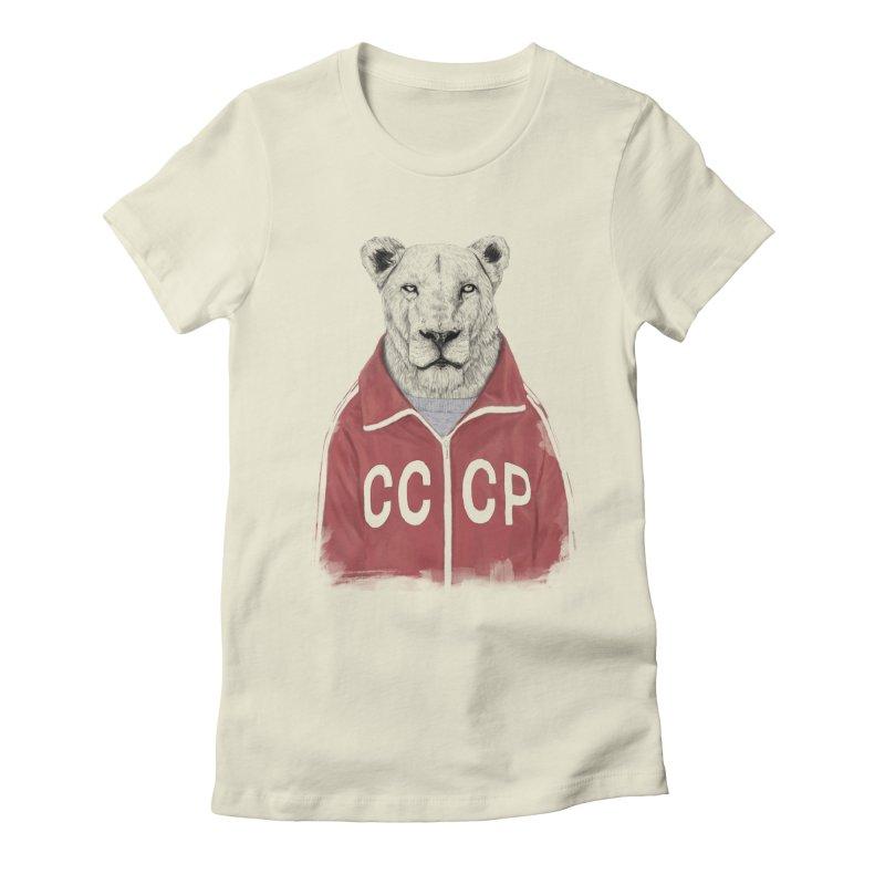 Soviet lion Women's T-Shirt by Balazs Solti