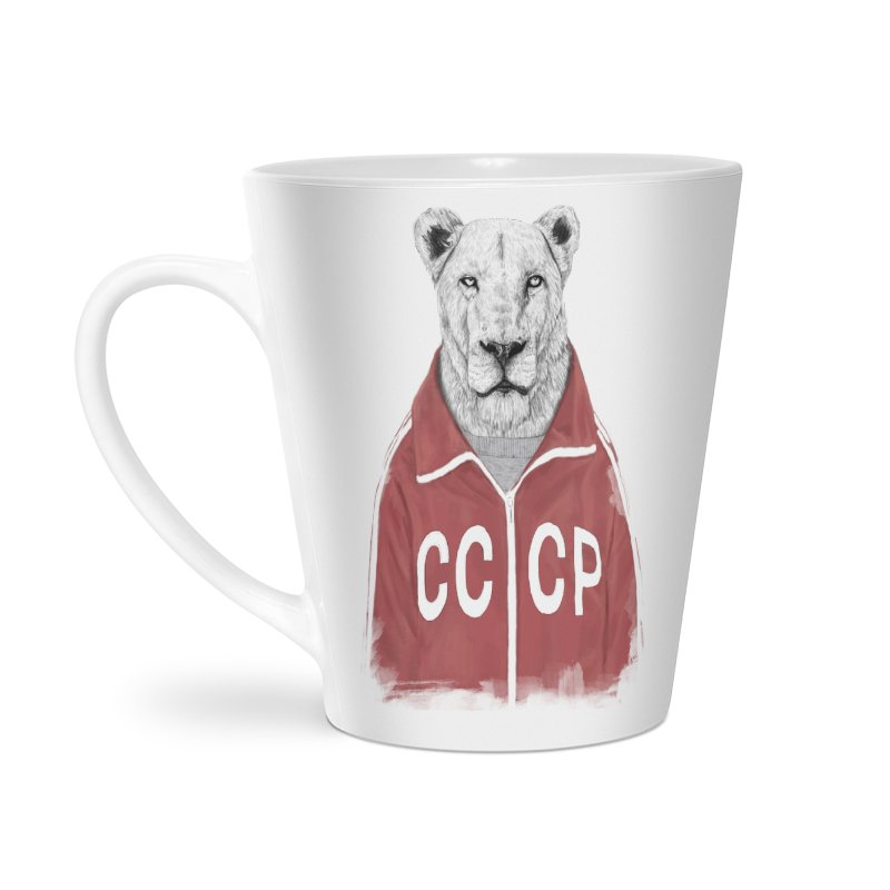 Soviet lion Accessories Mug by Balazs Solti