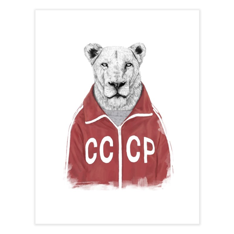 Soviet lion Home Fine Art Print by Balazs Solti