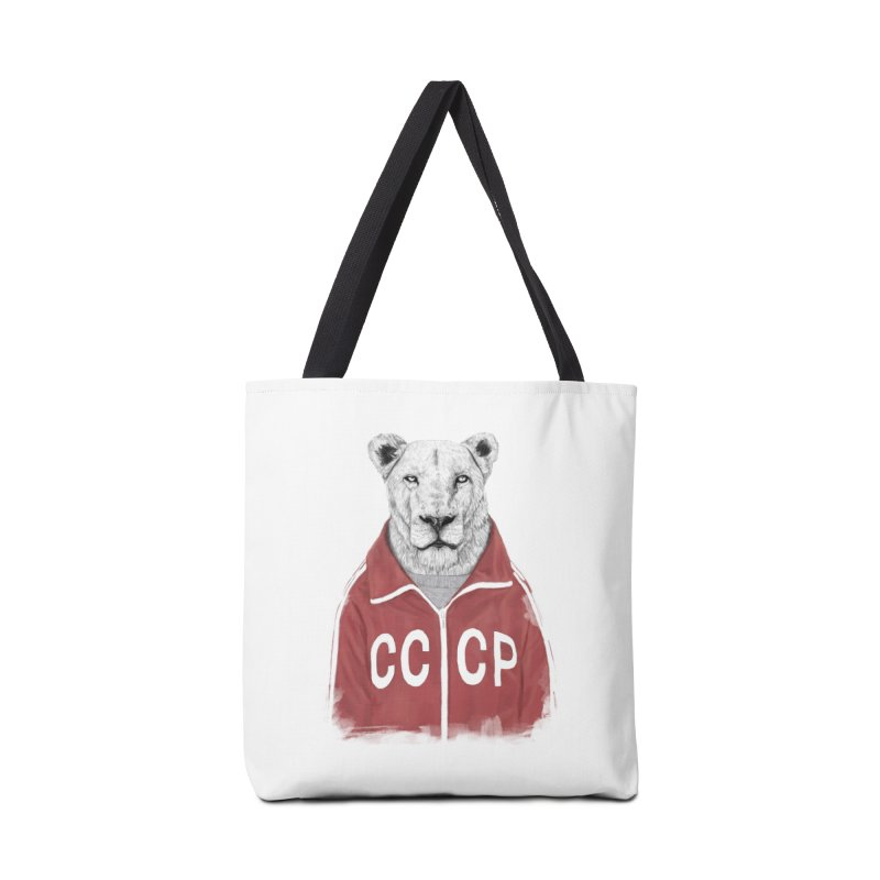 Soviet lion Accessories Tote Bag Bag by Balazs Solti