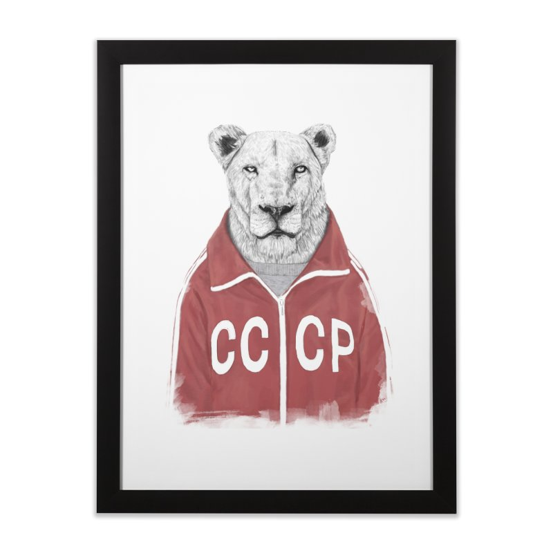 Soviet lion Home Framed Fine Art Print by Balazs Solti