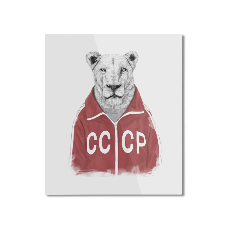 Soviet lion Home Mounted Aluminum Print by Balazs Solti