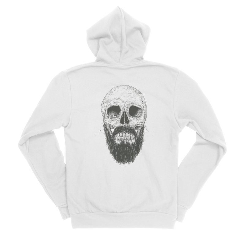 The beard is not dead Men's Sponge Fleece Zip-Up Hoody by Balazs Solti