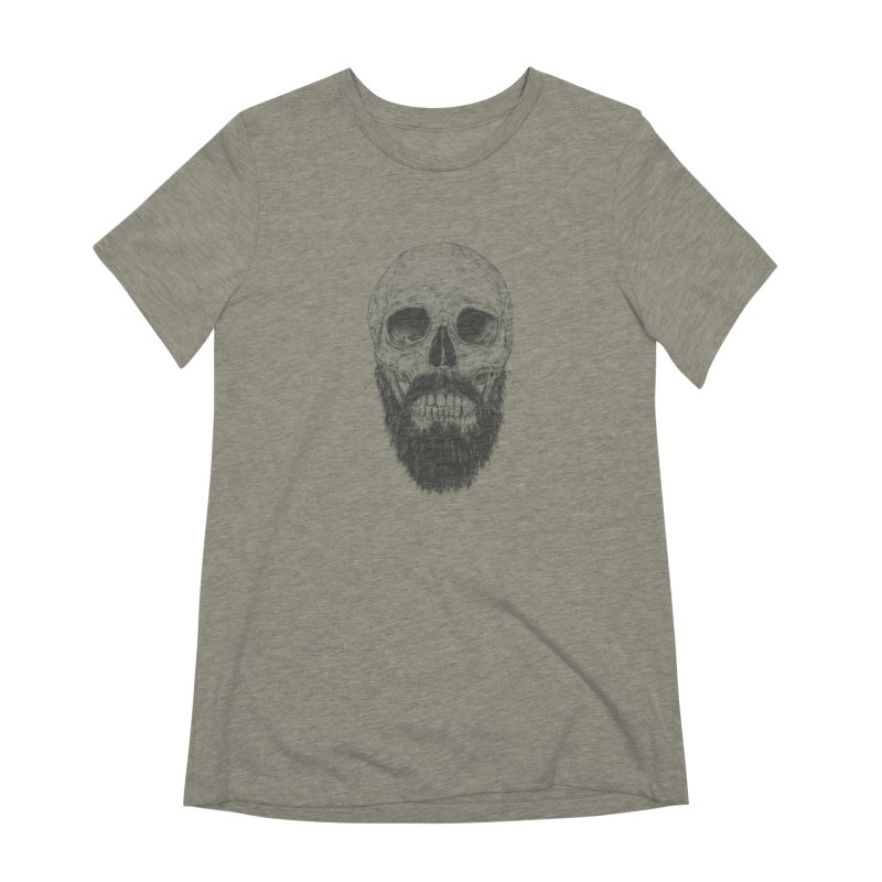 The beard is not dead Women's Extra Soft T-Shirt by Balazs Solti