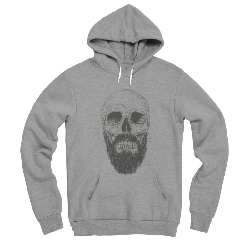 The beard is not dead Men's Sponge Fleece Pullover Hoody by Balazs Solti