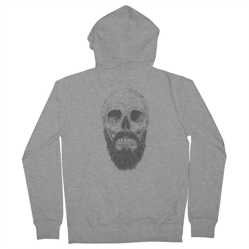 The beard is not dead Women's French Terry Zip-Up Hoody by Balazs Solti