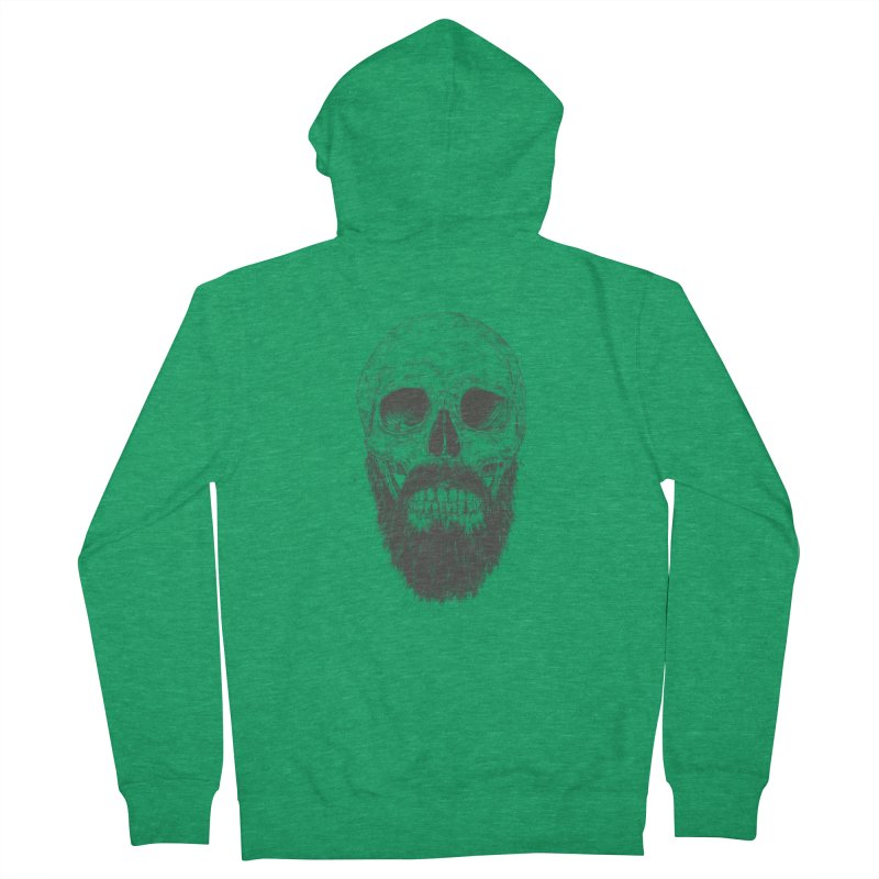 The beard is not dead Men's French Terry Zip-Up Hoody by Balazs Solti