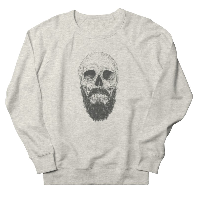 The beard is not dead Women's French Terry Sweatshirt by Balazs Solti
