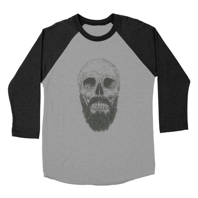The beard is not dead Men's Baseball Triblend Longsleeve T-Shirt by Balazs Solti