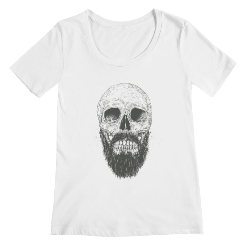 The beard is not dead Women's Regular Scoop Neck by Balazs Solti
