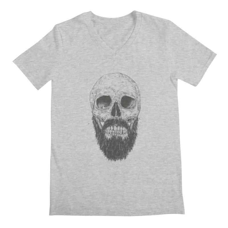 The beard is not dead Men's Regular V-Neck by Balazs Solti