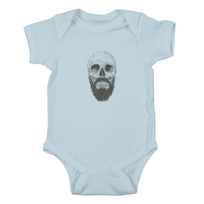 The beard is not dead Kids Baby Bodysuit by Balazs Solti