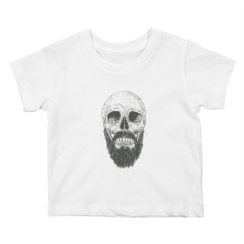 The beard is not dead Kids Baby T-Shirt by Balazs Solti