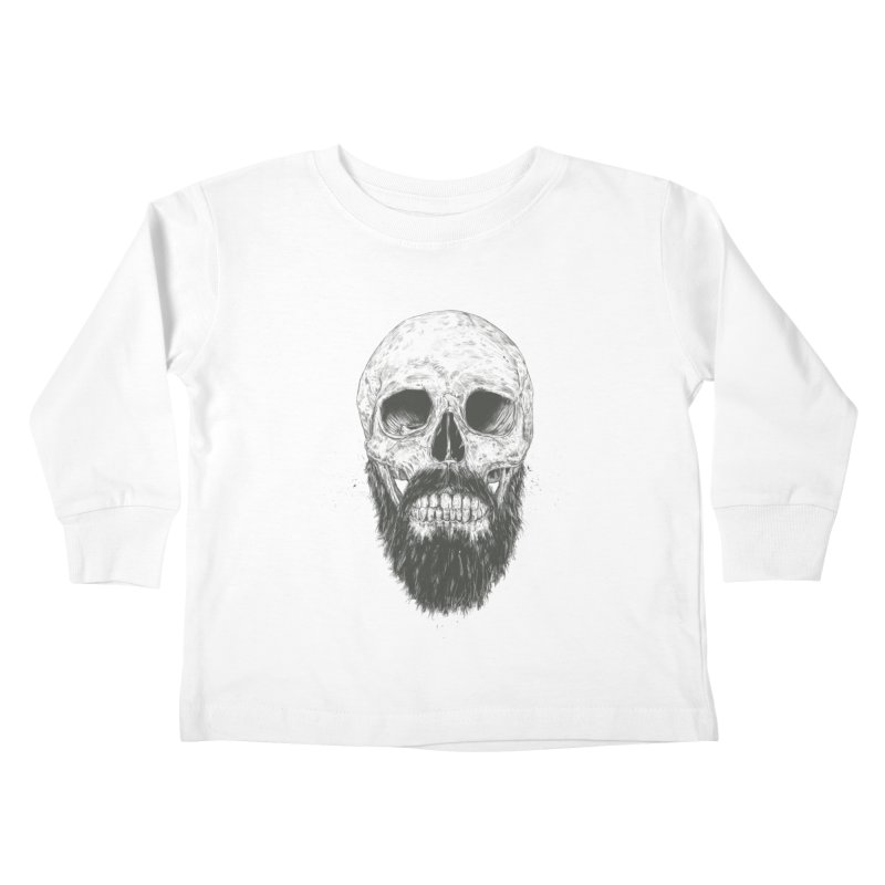 The beard is not dead Kids Toddler Longsleeve T-Shirt by Balazs Solti