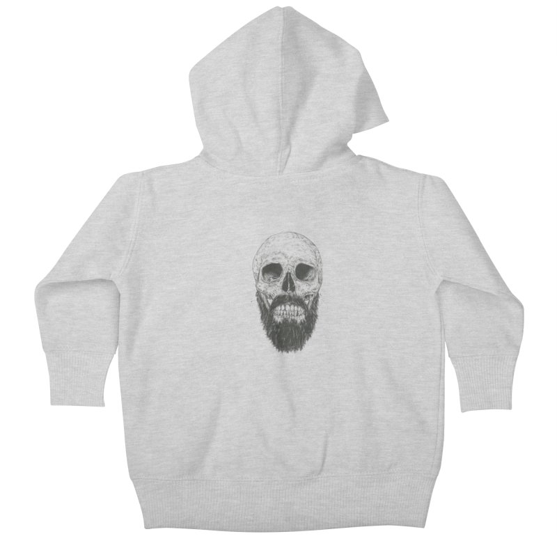 The beard is not dead Kids Baby Zip-Up Hoody by Balazs Solti