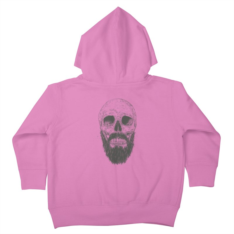 The beard is not dead Kids Toddler Zip-Up Hoody by Balazs Solti