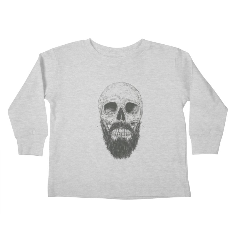 The beard is not dead Kids Toddler Longsleeve T-Shirt by Balazs Solti