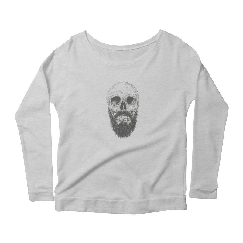 The beard is not dead Women's Scoop Neck Longsleeve T-Shirt by Balazs Solti