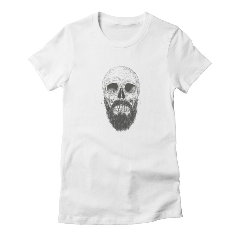 The beard is not dead Women's Fitted T-Shirt by Balazs Solti