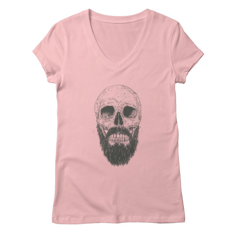 The beard is not dead Women's Regular V-Neck by Balazs Solti