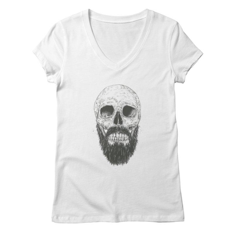 The beard is not dead Women's Regular V-Neck by Balazs Solti