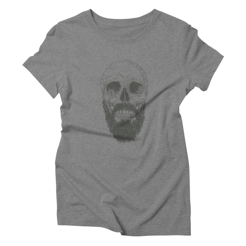 The beard is not dead Women's Triblend T-Shirt by Balazs Solti