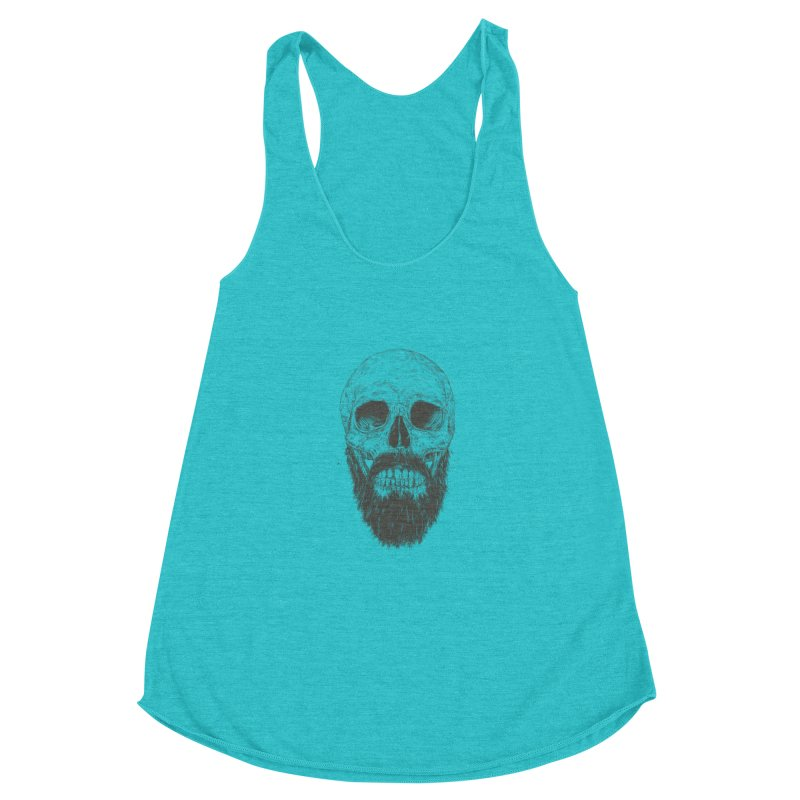 The beard is not dead Women's Racerback Triblend Tank by Balazs Solti