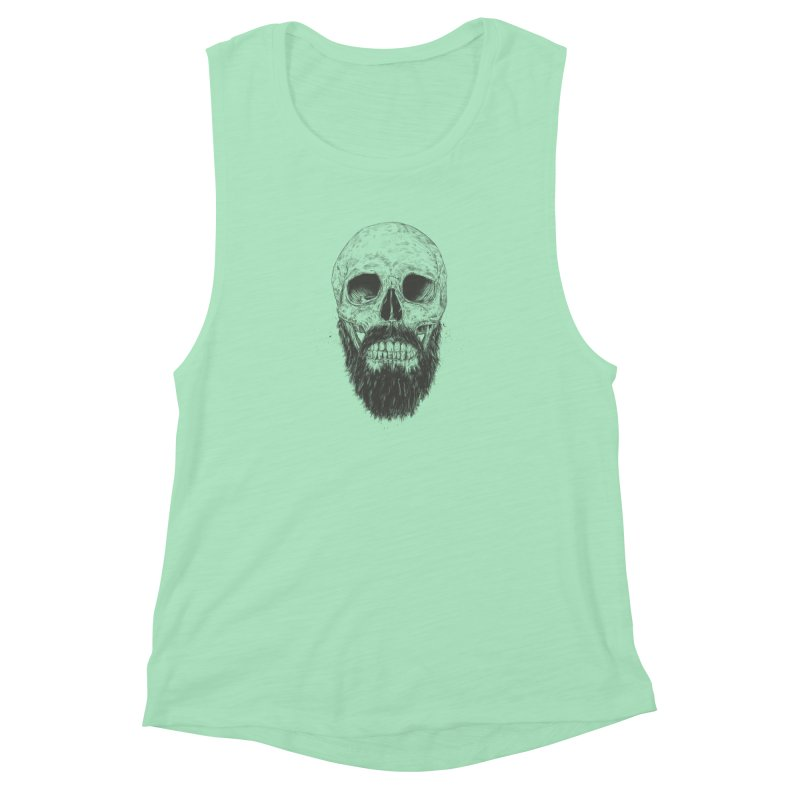 The beard is not dead Women's Muscle Tank by Balazs Solti