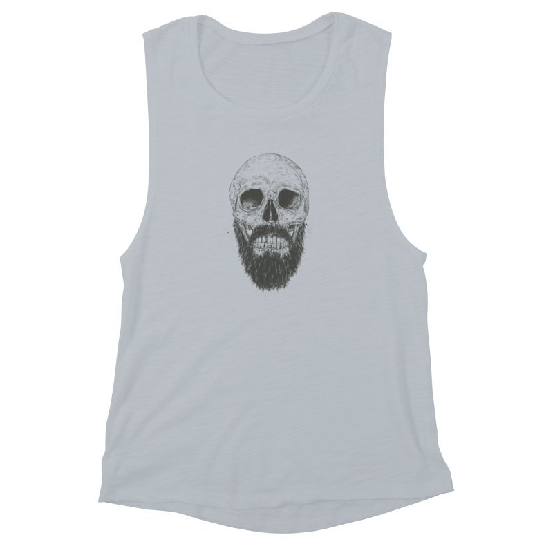 The beard is not dead Women's Muscle Tank by Balazs Solti