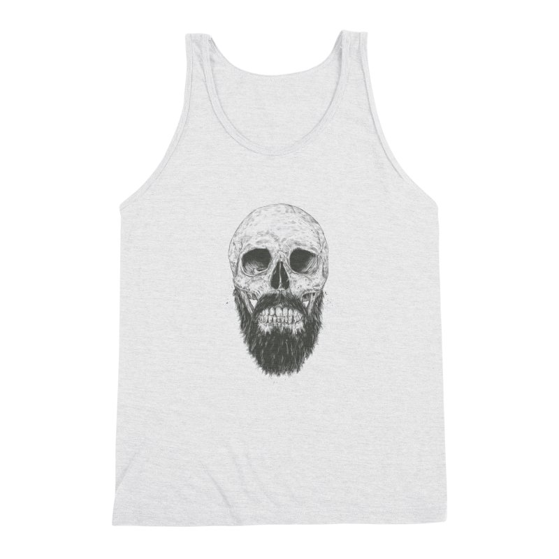 The beard is not dead Men's Triblend Tank by Balazs Solti