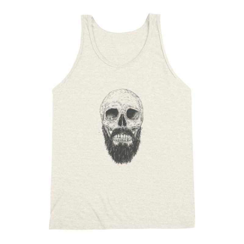 The beard is not dead Men's Triblend Tank by Balazs Solti
