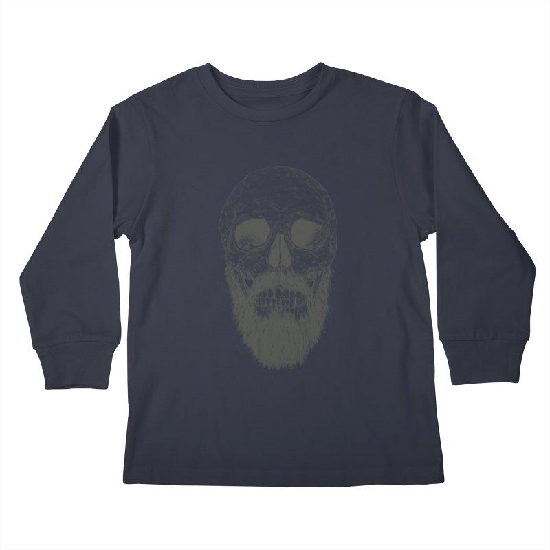 The beard is not dead Kids Longsleeve T-Shirt by Balazs Solti