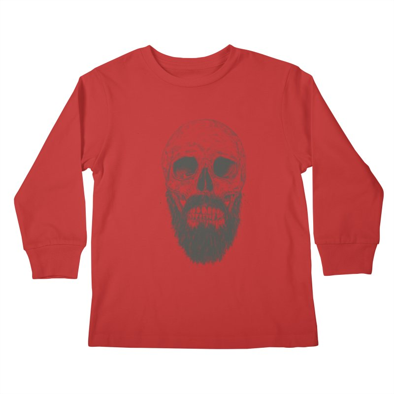 The beard is not dead Kids Longsleeve T-Shirt by Balazs Solti