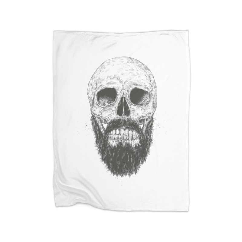The beard is not dead Home Blanket by Balazs Solti