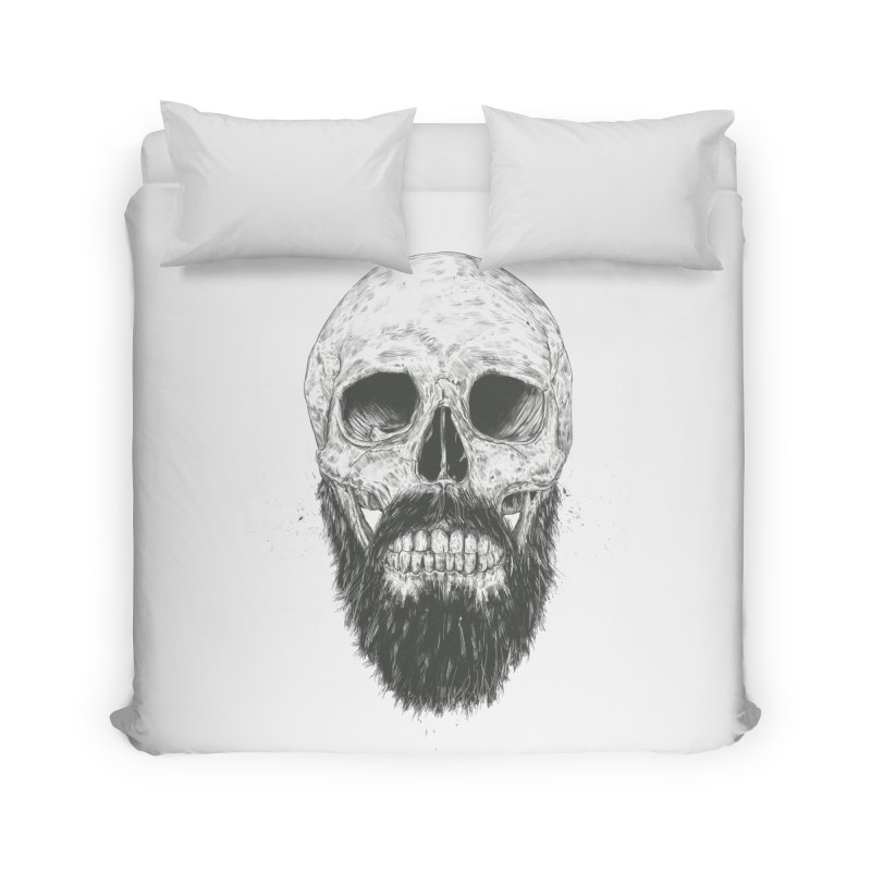 The beard is not dead Home Duvet by Balazs Solti